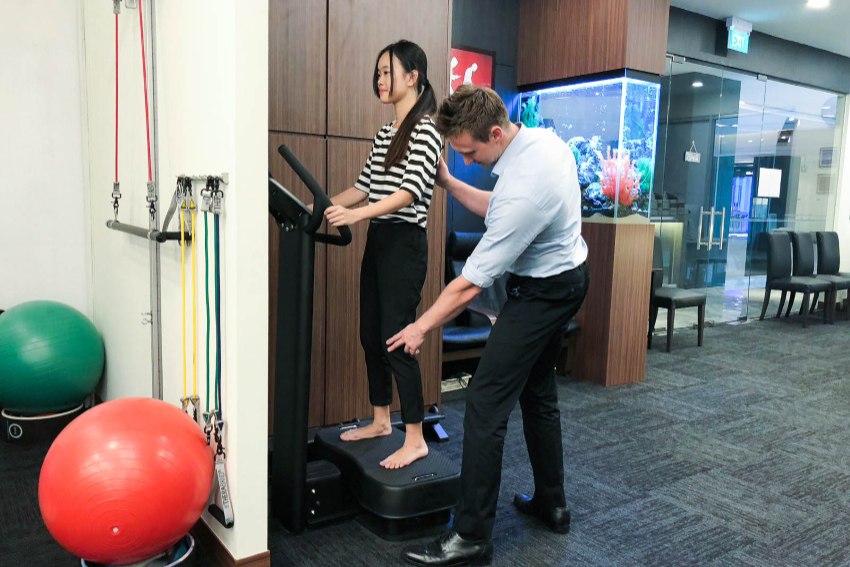 Whole body vibration therapy - Singapore chiropractor