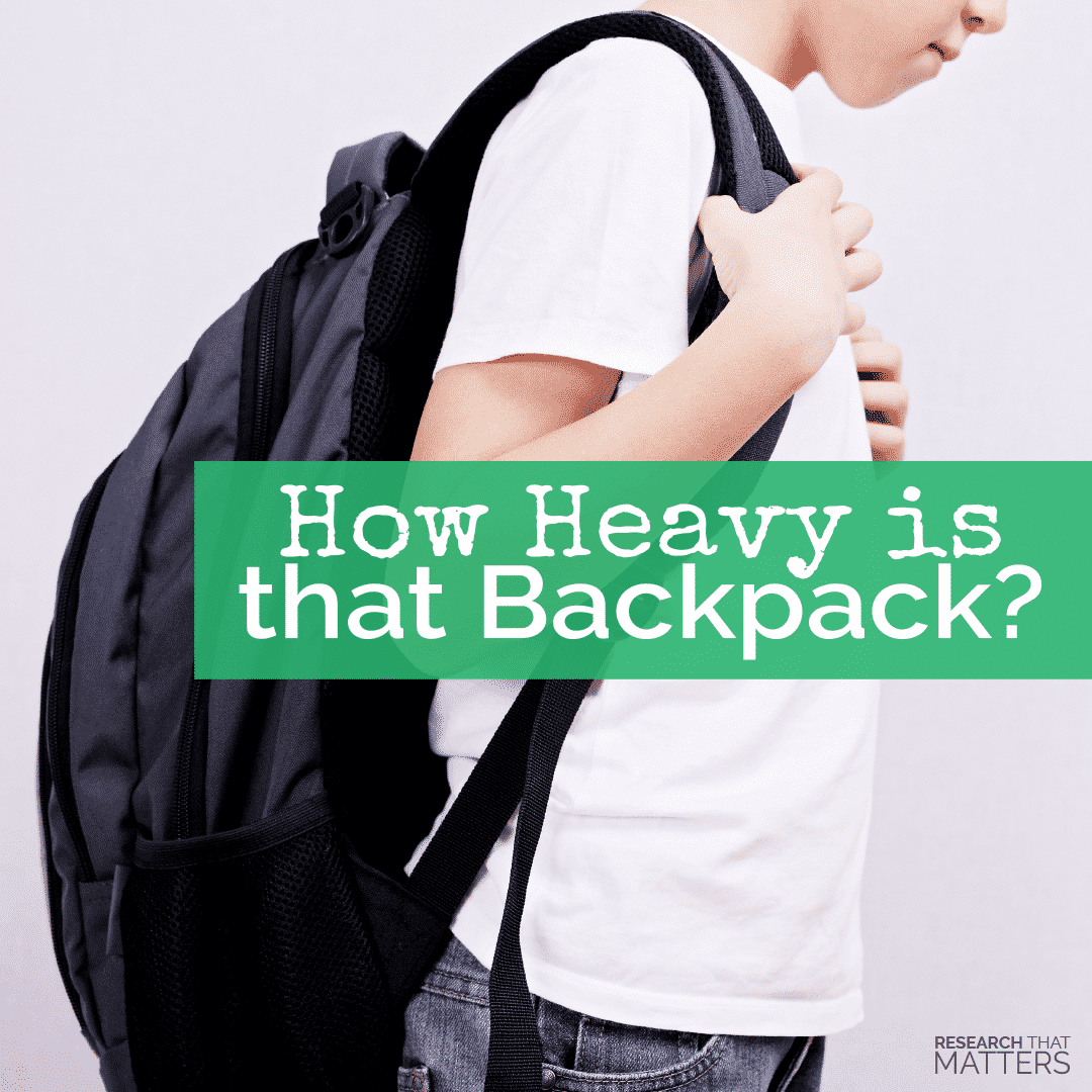 How Heavy is That Backpack 1